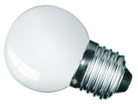 This is a 1W 26-27mm ES/E27 Golfball bulb that produces a White (835) light which can be used in domestic and commercial applications