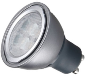 This is a 6 W GU10 Reflector/Spotlight bulb that produces a Daylight (860/865) light which can be used in domestic and commercial applications