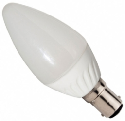 This is a 4W Candle bulb that produces a Warm White (830) light which can be used in domestic and commercial applications