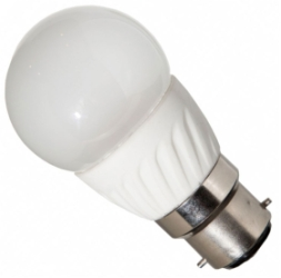 This is a 4W Golfball bulb that produces a Warm White (830) light which can be used in domestic and commercial applications