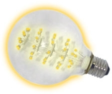This is a 1.8 W 26-27mm ES/E27 Globe bulb that produces a Warm White (830) light which can be used in domestic and commercial applications