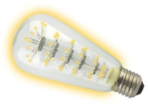 This is a 1.3 W 26-27mm ES/E27 Squirrel Cage bulb that produces a Warm White (830) light which can be used in domestic and commercial applications