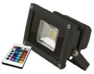 This is a 10 W Flood Light bulb that produces a RGB light which can be used in domestic and commercial applications