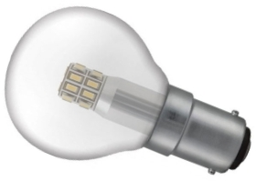 This is a 3 W 15mm Ba15d/SBC Golfball bulb that produces a Warm White (830) light which can be used in domestic and commercial applications