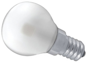 This is a 3 W 14mm SES/E14 Golfball bulb that produces a Warm White (830) light which can be used in domestic and commercial applications