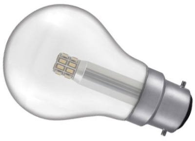 This is a 5 W 22mm Ba22d/BC Standard GLS bulb that produces a Warm White (830) light which can be used in domestic and commercial applications