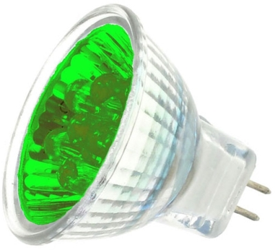 This is a 1W GU4/GZ4 Reflector/Spotlight bulb that produces a Green light which can be used in domestic and commercial applications