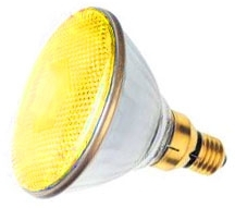 This is a 7.5W 26-27mm ES/E27 Reflector/Spotlight bulb that produces a Yellow light which can be used in domestic and commercial applications