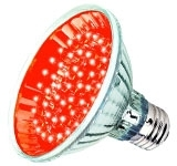 This is a 2.5 W 26-27mm ES/E27 Reflector/Spotlight bulb that produces a Red light which can be used in domestic and commercial applications