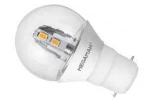 This is a 3.5 W Golfball bulb that produces a Warm White (830) light which can be used in domestic and commercial applications