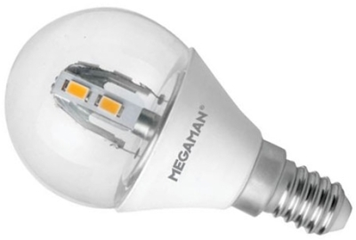 This is a 3.5 W 14mm SES/E14 Golfball bulb that produces a Warm White (830) light which can be used in domestic and commercial applications