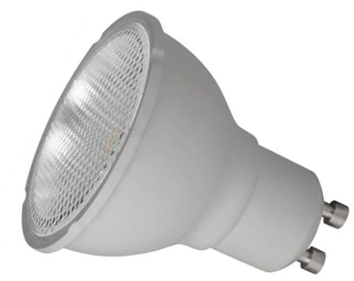 This is a 5 W GU10 Reflector/Spotlight bulb that produces a Cool White (840) light which can be used in domestic and commercial applications