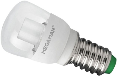 This is a 2 W 14mm SES/E14 Pygmy bulb that produces a Warm White (830) light which can be used in domestic and commercial applications