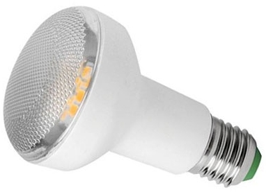 This is a 7.5 W 26-27mm ES/E27 Reflector/Spotlight bulb that produces a Warm White (830) light which can be used in domestic and commercial applications