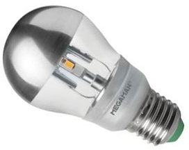 This is a 5 W 26-27mm ES/E27 Golfball bulb that produces a Warm White (830) light which can be used in domestic and commercial applications