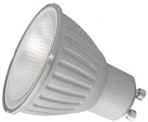 This is a 6 W GU10 Reflector/Spotlight bulb which can be used in domestic and commercial applications