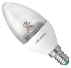 This is a 6 W 14mm SES/E14 Candle bulb which can be used in domestic and commercial applications