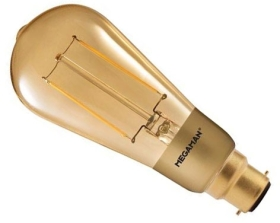 This is a 3 W 22mm Ba22d/BC ST58 Squirrel Cage bulb that produces a Very Warm White (827) light which can be used in domestic and commercial applications
