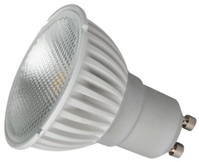 This is a 4 W GU10 Reflector/Spotlight bulb that produces a Daylight (860/865) light which can be used in domestic and commercial applications