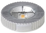 This is a 5 W GX53 Special bulb that produces a Warm White (830) light which can be used in domestic and commercial applications