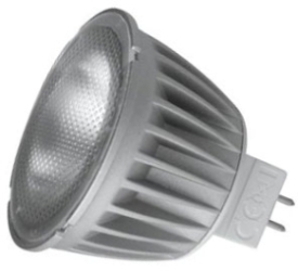 This is a 6 W GX5.3/GU5.3 Reflector/Spotlight bulb that produces a Warm White (830) light which can be used in domestic and commercial applications