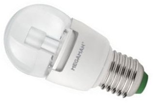 This is a 7 W 26-27mm ES/E27 Golfball bulb that produces a Warm White (830) light which can be used in domestic and commercial applications