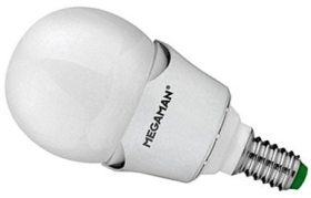 This is a 7 W 14mm SES/E14 Golfball bulb that produces a Warm White (830) light which can be used in domestic and commercial applications