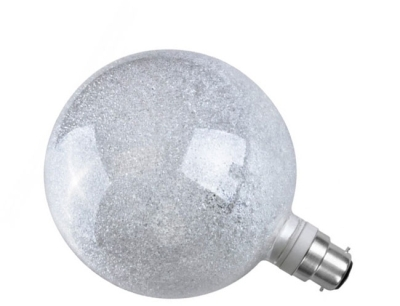 This is a 3 W 22mm Ba22d/BC Globe bulb that produces a Daylight (860/865) light which can be used in domestic and commercial applications