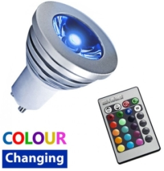 This is a 3 W GU10 Reflector/Spotlight bulb which can be used in domestic and commercial applications