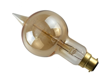 This is a 40 W 22mm Ba22d/BC Squirrel Cage bulb that produces a Amber light which can be used in domestic and commercial applications