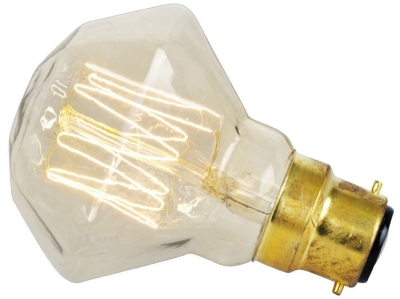 This is a 40 W 22mm Ba22d/BC Squirrel Cage bulb that produces a Very Warm White (827) light which can be used in domestic and commercial applications