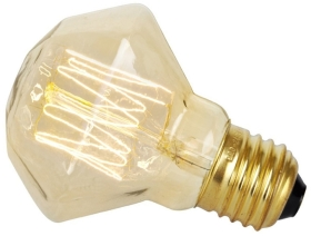 This is a 40 W 26-27mm ES/E27 Squirrel Cage bulb that produces a Very Warm White (827) light which can be used in domestic and commercial applications