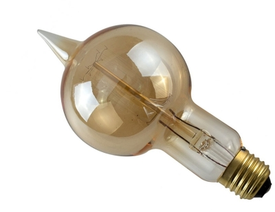 This is a 40 W 26-27mm ES/E27 Squirrel Cage bulb that produces a Amber light which can be used in domestic and commercial applications