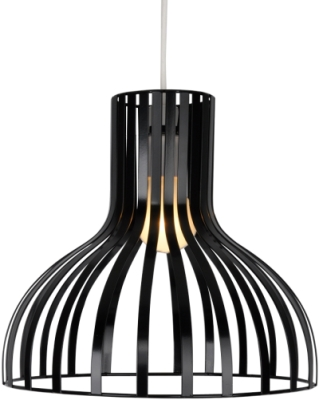 This is a Black Painted Gloss finish light fitting that has a diameter of 300 mm and takes a Bayonet light bulb produced by MiniSun