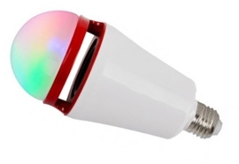 This is a 3 W 26-27mm ES/E27 Standard GLS bulb that produces a RGB light which can be used in domestic and commercial applications