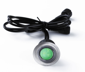 This is a 4.65 W Deck Lighting bulb that produces a Green light which can be used in domestic and commercial applications