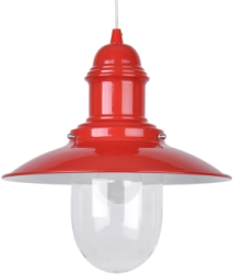 This is a Red finish light fitting that has a diameter of 305 mm and takes a Screw In light bulb produced by MiniSun