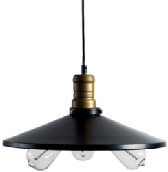 This is a Black finish light fitting that has a diameter of 340 mm and takes a Screw In light bulb produced by MiniSun