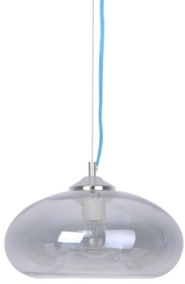 This is a Transparent Grey finish light fitting that has a diameter of 280 mm and takes a Screw In light bulb produced by MiniSun