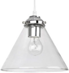 This is a Clear finish light fitting that has a diameter of 230 mm and takes a Screw In light bulb produced by MiniSun