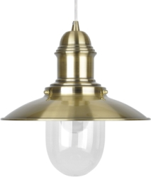 This is a Brass finish light fitting that has a diameter of 305 mm and takes a Screw In light bulb produced by MiniSun