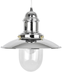 This is a Chrome finish light fitting that has a diameter of 305 mm and takes a Screw In light bulb produced by MiniSun