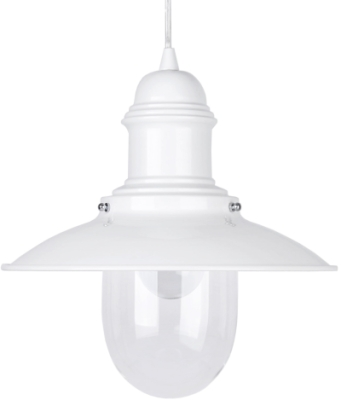 This is a White finish light fitting that has a diameter of 305 mm and takes a Screw In light bulb produced by MiniSun