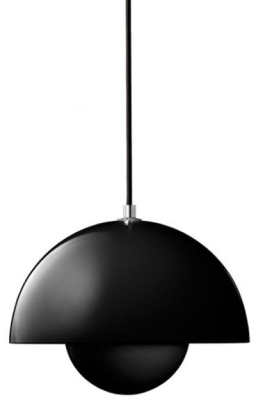 This is a Black finish light fitting that has a diameter of 200 mm and takes a Screw In light bulb produced by MiniSun