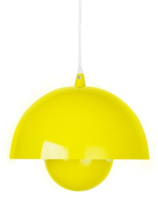 This is a Yellow finish light fitting that has a diameter of 200 mm and takes a Screw In light bulb produced by MiniSun