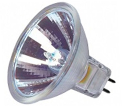 This is a 35 W GX5.3/GU5.3 bulb that produces a Warm White (830) light which can be used in domestic and commercial applications