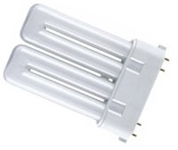 This is a 24W 2G10 Multi Tube bulb that produces a Warm White (830) light which can be used in domestic and commercial applications