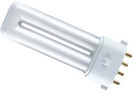 This is a 11 W 2G7 bulb that produces a Very Warm White (827) light which can be used in domestic and commercial applications