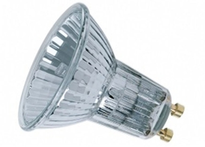 This is a 40 W GU10 bulb that produces a Warm White (830) light which can be used in domestic and commercial applications
