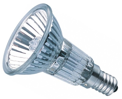 This is a 40 W 14mm SES/E14 Reflector/Spotlight bulb that produces a Very Warm White (827) light which can be used in domestic and commercial applications